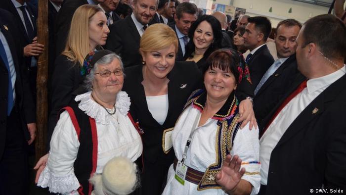 Bosnien und Herzegowina kroatische Präsidentin Kolinda Grabar-Kitarovic in Mostar