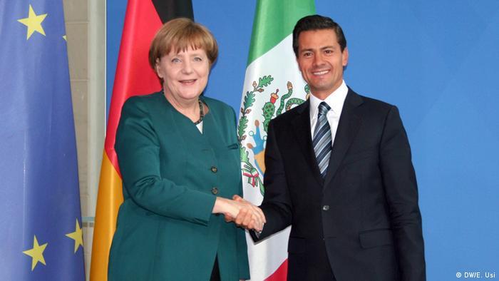 Merkel y Peña Nieto en Berlín.