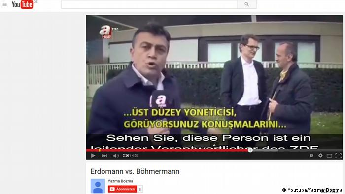 Youtube-Video - Turkish television team in front of ZDF