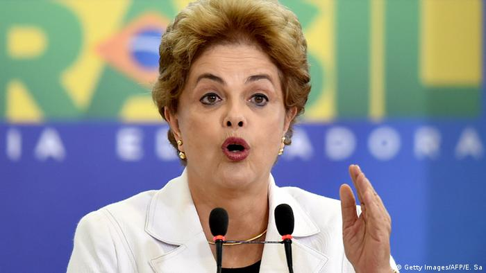 Brazilian President Dilma Rousseff delivers a speech EVARISTO SA/AFP/Getty Images