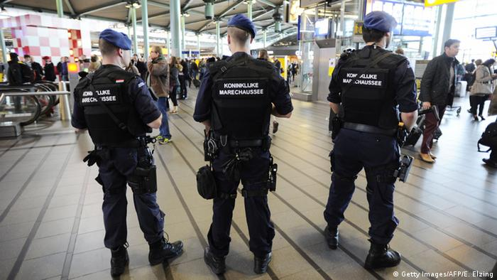 Belgian security personnel at Brussels Airport