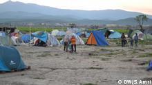 12.04.2016+++ Bildergalerie Lebensbedingungen der Flüchtlinge in Idomeni. Sonnenuntergang in Idomeni. +++ (C) DW/S. Amri