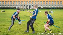 Deutschland Quidditch-Mannschaft der Uni Bonn beim Training