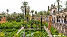 Spanien Sevilla Alcazar Garten