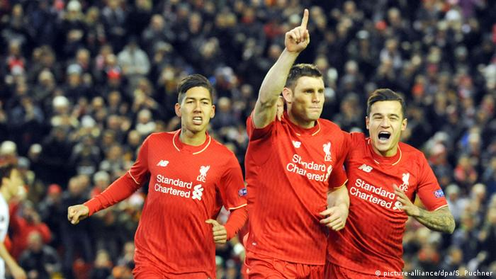 James Milner Philippe Coutinho Liverpool FC FC Augsburg England (picture-alliance/dpa/S. Puchner)