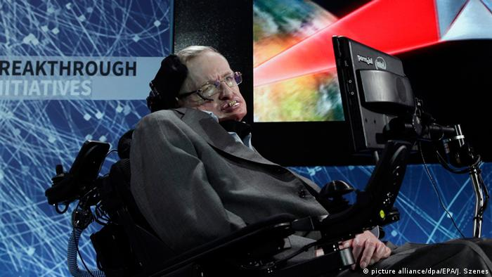 USA Stephen Hawking in New York (picture alliance/dpa/EPA/J. Szenes)