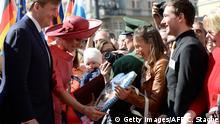 Deutschland Niederlande König Willem-Alexander, Königin Maxima
