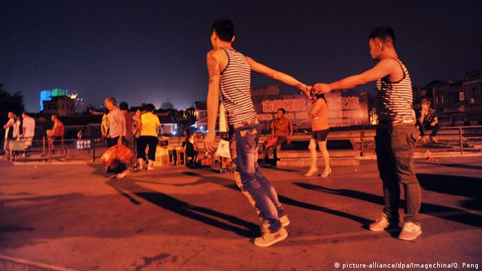 China homosexuelles Paar in Quanzhou (picture-alliance/dpa/Imagechina/Q. Peng)