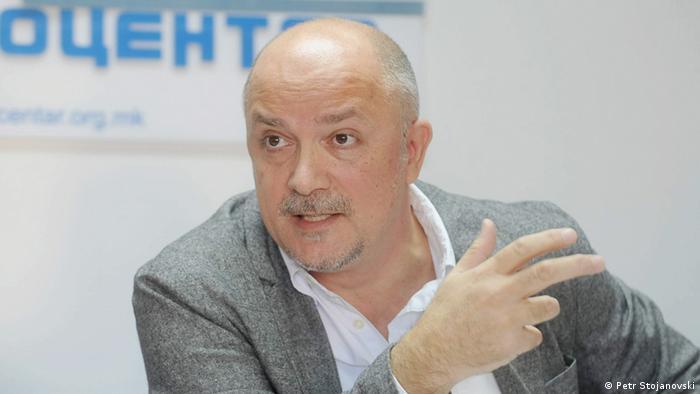 Gordan Kalajdziev - Der Präsident des Helsinki Committee Mazedonien