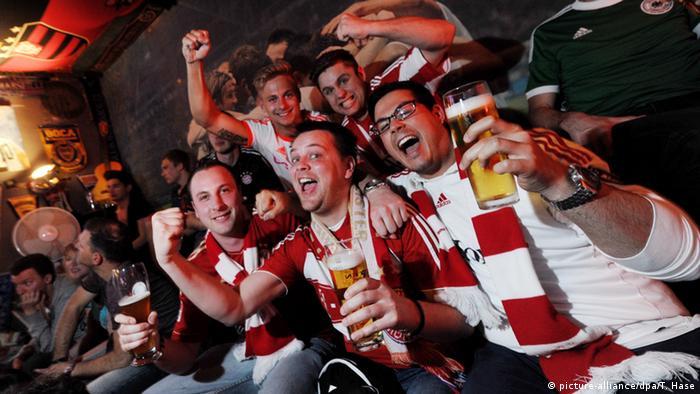 Deutschland Fußballfans in München