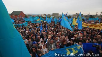 Протесты крымских татар в Киеве против нарушений прав человека в Крыму