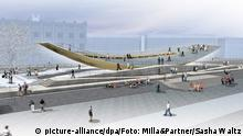 Model for the Berlin reunification memorial (picture-alliance/dpa/Foto: Milla&Partner/Sasha Waltz)