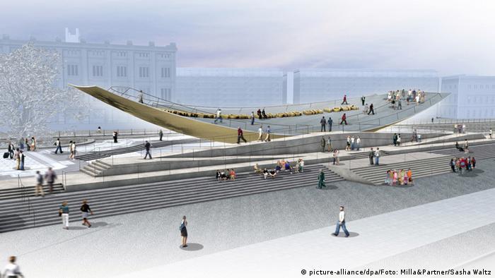 Berlin Modell des geplanten Einheitsdenkmals - Einheitswippe
