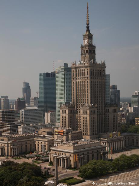 Warsaw's Palace of Culture and Science was built by the Soviets after World War Two