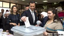 Syrien Parlamentswahlen - Stimmabgabe Baschar al-Assad