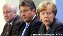 Koalitionsgespräche Seehofer Merkel Gabriel
