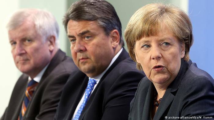 Seehofer Merkel Gabriel, Copyright: picture-alliance/dpa/W. Kumm