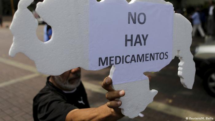 Venezuela Medikamentemangel Proteste (Reuters/M. Bello)