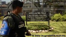 Panama Stadt Polizei vor Kanzlei Mossack Fonseca