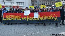 13.04.2016+++ Protest in Lissabon (Portugal) am 13.04.2016 für die Freilassung von 17 angolanischen Aktivisten. +++ (C) DW/J. Carlos