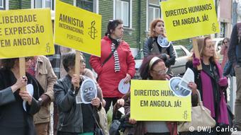 Portugal Demo Lissabon - angolanische Aktivisten