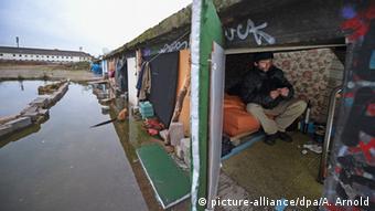 Εποχικός εργάτης από τη Ρουμανία σε πρόχειρο κατάλυμα στη Φρανκφούρτη