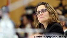 La ministra de Comercio de Canadá, Chrystia Freeland (foto de archivo)