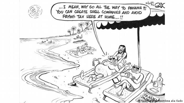 Caricature de Godfrey Mwampembwa aka Gado