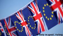 KNUTSFORD, UNITED KINGDOM - MARCH 17: In this photo illustration, the European Union and the Union flag sit together on bunting on March 17, 2016 in Knutsford, United Kingdom. The United Kingdom will hold a referendum on June 23, 2016 to decide whether or not to remain a member of the European Union (EU), an economic and political partnership involving 28 European countries which allows members to trade together in a single market and free movement across its borders for citizens. +++(c) Getty Images/C. Furlong