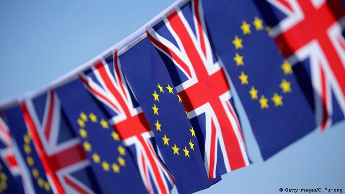 EU and British flags in a row. (Photo: Getty Images/C. Furlong)
