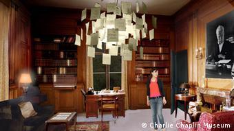 Nachgebautes Arbeitszimmer von Charlie Chaplin (Foto: Charlie Chaplin Museum)