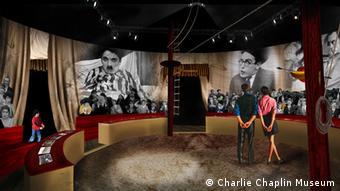 Nachgebaute Zirkusmanege in Chaplin's World (Foto: Charlie Chaplin Museum)
