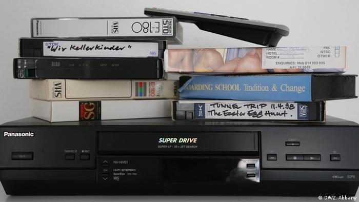 Videocassettes and a videorecorder from 2005