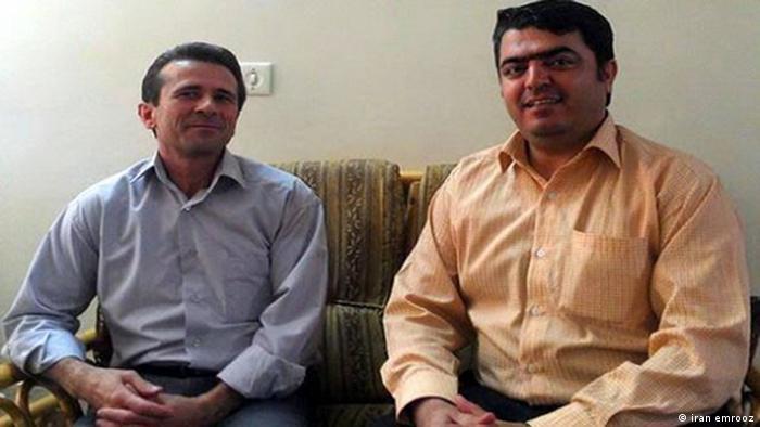 اسماعیل عبدی (راست)، دبیر کل کانون صنفی معلمان و جعفر عظیمزاده، دبیر هیات مدیره اتحادیه آزاد کارگران