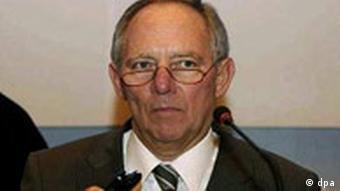 Wolfgang Schäuble bei der Eröffnung der Afghanistan Konferenz