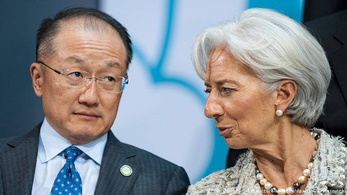 USA Jim Yong Kim und Christine Lagarde in Washington
