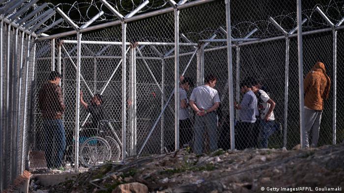 Griechenland Haftanstalt auf Chios (Foto: Getty Images/AFP/L. Gouliamaki)