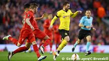 LIVERPOOL, ENGLAND - APRIL 14: Gonzalo Castro of Borussia Dortmund makes a break during the UEFA Europa League quarter final, second leg match between Liverpool and Borussia Dortmund at Anfield on April 14, 2016 in Liverpool, United Kingdom. (Photo by Clive Brunskill/Getty Images) © Getty Images/C.Brunskill