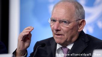 Bundesfinanzminister Schäuble, hier auf Dienstreise in Washington. Foto: copyright: REUTERS/Jonathan Ernst
