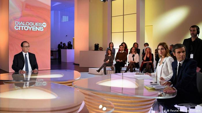 Frankreich Präsident Hollande TV Auftritt