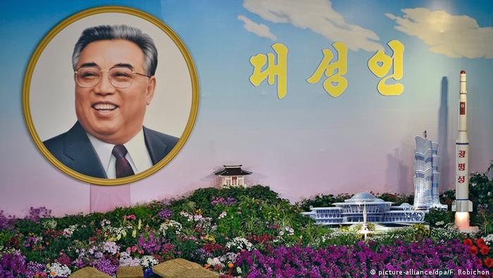 Nordkorea Raktenstart anlässlich des Geburtstags von Staatsgründer Kim Il Sung