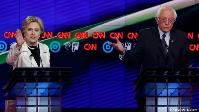 USA Vorwahlen TV Debatte Clinton Sanders