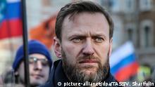 Russland Alexei Navalny in Moskau