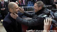 Fußball Atletico de madrid - FC Barcelona Pep Guardiola und Diego Simeone