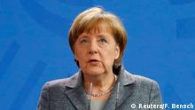 15.04.2016+++ German Chancellor Angela Merkel gives a statement on Turkey's request to seek prosecution of German comedian Jan Boehmermann who read out a sexually crude poem about Turkish President Tayyip Erdogan on German television, at the Chancellery in Berlin, Germany April 15, 2016. +++ (C) Reuters/F. Bensch