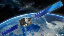 Animation Galileo-Satellit im Weltall