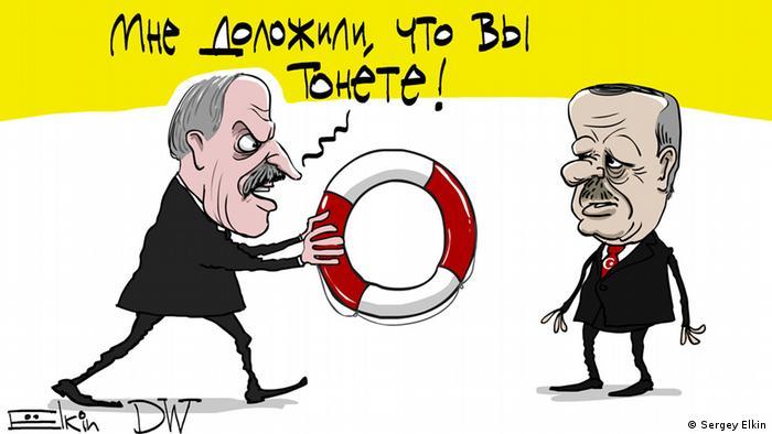 DW-Karikatur von Sergey Elkin - Lukaschenko & Erdogan