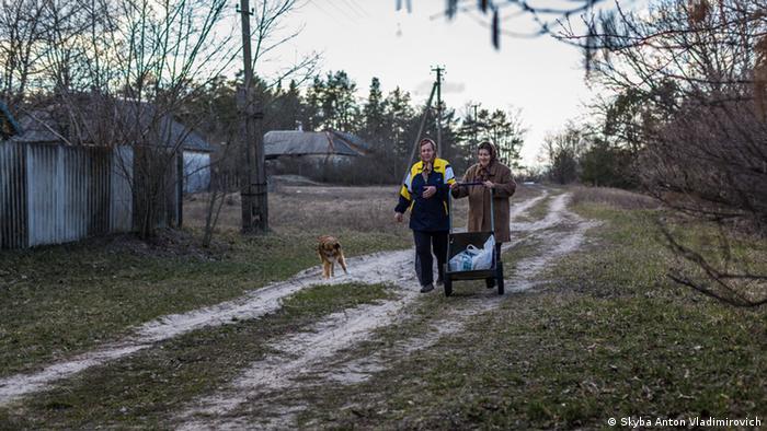 Местные жители, вернувшиеся в зону отчуждения