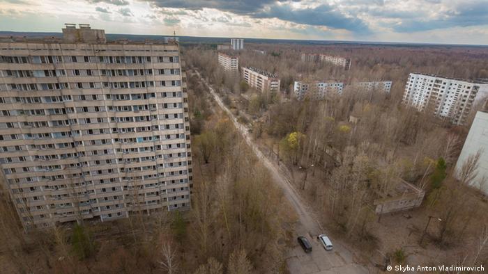 Брошенные дома в городе Припять