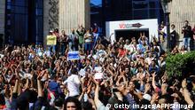 صورة من الأرشيف لاحتجاجات ضد ضم جزيرتي تيران وصنافير للسعودية.